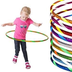 Funny Kinder Hula Hoop Reifen Ø70cm, Gelb-Grün