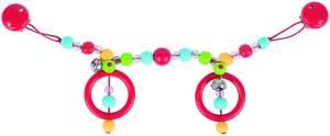 Heimess Kinderwagen Kette mit Clips (genoppt Perlen)