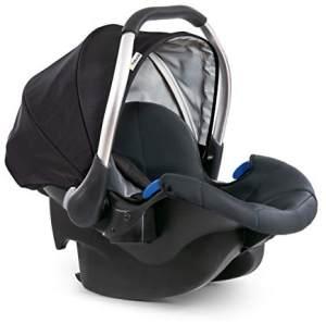 Hauck 'Comfort Fix' Babyschale schwarz/grau