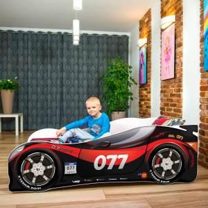 Nobiko Autobett black/red 140 x 70 cm