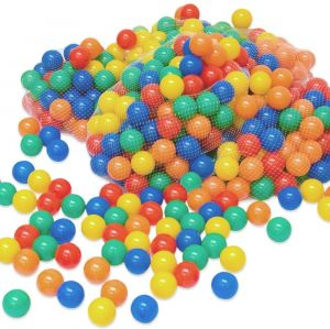 LittleTom 500 bunte Bälle für Bällebad 6cm Babybälle Plastikbälle Baby Spielbälle