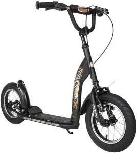 BIKESTAR 'Tretroller Kinderroller ab 6-7 Jahre' Scooter, höhenverstellbar bis 90 cm, 12 Zoll, Sport Edition, schwarz (matt)