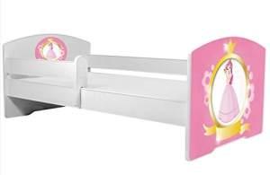 Angelbeds 'Luk2 Luk' Kinderbett 80 x 160 cm, Motiv 11, mit Lattenrost, Matratze und mit Bettschublade