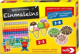 Noris 606076342 Spaß am Lernen, Kinder Lernspiel zum Einmaleins Lernen für die 1 und 2 Klasse, 1-4 Spieler, ab 7 Jahren