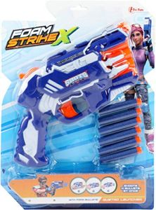 Foam Strike Xschaumstoffpistole blau 7-teilig