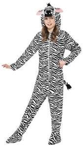 Smiffys Kinder Unisex Zebra Kostüm, All-in-One mit Kapuze, Größe: M, 27990