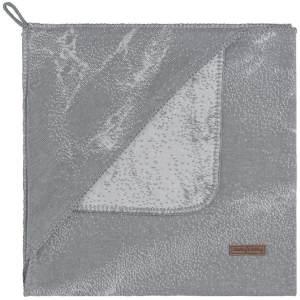 BO Baby's Only - Kapuzendecke Marble - Grau/Silbergrau - 75x75 cm - 50% Baumwolle/50% Polyacryl