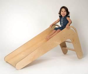 KidsBo Indoor-Holzrutsche in Natur