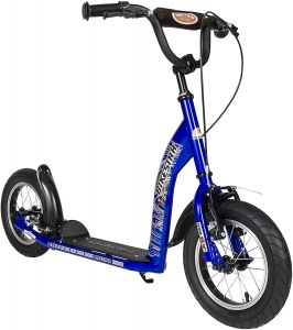 Bikestar SC-12-ST-01-BLUE 'Tretroller Kinderroller' Scooter, ab 6-7 Jahre, 12 Zoll, höhenverstellbar bis 90 cm, max. belastbar bis 60 kg, blau