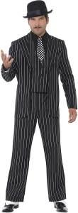 Smiffys, Herren Klassischer Gangsterboss Kostüm, Jacke, Krawatte, Weste mit Mock Hemd und Hose, Größe: M, 23042