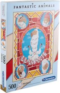 Clementoni 35069 High Quality Puzzle 500 Teile-Fantastic Animals Lama, Mehrfarben