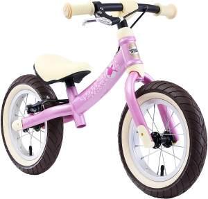 BIKESTAR Mitwachsendes Kinder Laufrad Lauflernrad Kinderrad für Mädchen ab 3-4 Jahre   12 Zoll Flex Sport Kinderlaufrad Pink   Risikofrei Testen