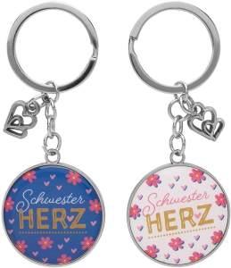 """Schlüsselanhänger für zwei, """"Schwesterherz"""""""