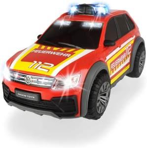 Dickie Toys 203714016 VW Tiguan R-Line Fire Car, Auto, Feuerwehr Einsatzfahrzeug, SUV, Blaulicht & Sound, inkl. Batterien, 25 cm, für Kinder ab 3 Jahren, rot