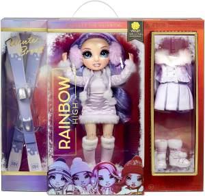 Rainbow High Winter Break 'Violet Willow' Fashion-Puppe, ab 6 Jahren, inkl. 2 coolen Winter-Outfits und vielen Winter-Fashion-Accessoires