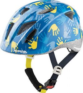 Alpin Kinder Fahrradhelm ALPINA XIMO 47-51 cm, blue hands gloss