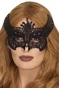 Smiffys SMIFFY 'S 48162Filigrane Spitze Teufel Maske, Schwarz, Eine Größe