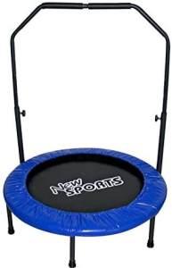New Sports NSP Trampolin mit Griff, Durchmesser 91 cm, Haltestange in 5 Höhen verstellbar, 100 kg maximale Belastbarkeit