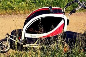 Fahrradanhänger Deluxe 16 Zoll Junior Schwarz/Rot