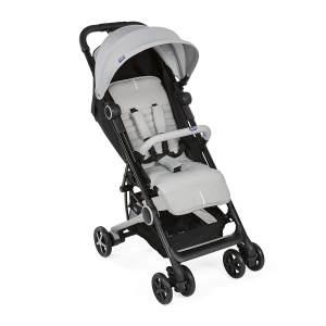 Chicco MIINIMO3 Buggy, kompakter Reisebuggy, ultraleicht, ab Geburt, mit Transportrucksack, grau