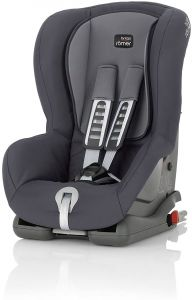 Britax Römer Kindersitz 9 Monate - 4 Jahre I 9 - 18 kg I DUO PLUS Autositz Gruppe 1 I Storm Grey