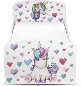Leomark 'verzaubertes Pferd' Kinderbett 140x70 mit Matratze weiß