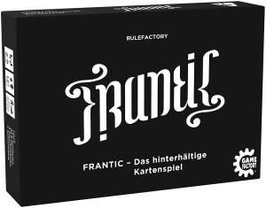 Game Factory 646224 Frantic, das hinterhältige Kartenspiel, Schwarz, Weiß