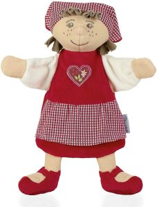 Sterntaler Handpuppe Gretel, Ideal für Puppentheater und Rollenspiele, 23 x 21 x 8 cm, Mehrfarbig