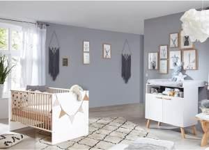 Trendteam 'Mats' 2-tlg. Babyzimmer-Set, weiß, aus Bett 70x140 und Wickelkommode