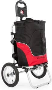 Duramaxx 'Carry Red' Fahrradanhänger Traglast 20 kg schwarz/rot
