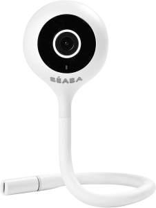 BÉABA - Babyphone Zen Connect - Video-Babyphone - 1080 p Full-HD-Kamera - Walkie-Talkie, große Reichweite - Verbindung mit Mobilnetzwerk und WLAN möglich - Schlaflieder, flexible Stange - Weiß