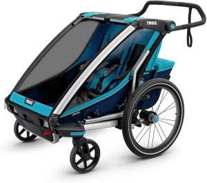 Thule 'Chariot Cross 2' Fahrradanhänger 2020 Blau, 2-Sitzer