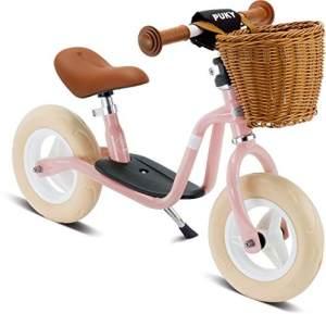 PUKY 4094 'LR M CLASSIC' Laufrad, für Kinder ab 85 cm Körpergröße, bis 25 kg belastbar, höhenverstellbar, inkl. Korb, retro-rosé