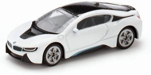 SIKU 1458, BMW i8, Metall/Kunststoff, Schwarz/Weiß, Spielzeugauto für Kinder