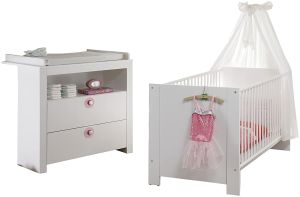 Trendteam 'Olivia' 2-tlg. Babyzimmer-Set weiß/rosa