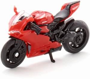 SIKU 1385, Ducati Panigale 1299 Motorrad, Metall/Kunststoff, Rot, Ausklappbarer Ständer