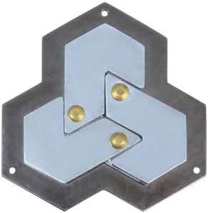 Brain Teaser Cast Hexagon Silber