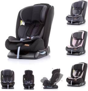 Chipolino Kindersitz Corso Gruppe 0+/1/2/3 (0 - 36 kg), 5-Punkt-Gurt, 3D-Pad schwarz