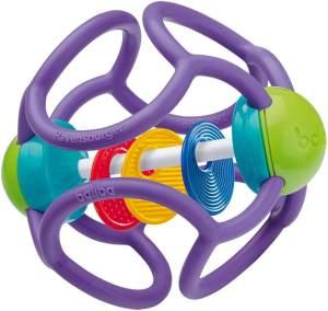 Ravensburger ministeps 4153 baliba Rasselball, Baby Spielzeug ab 3 Monate, Greifling, Babyrassel, lila