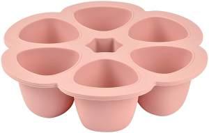 Béaba - Babynahrung Portionsbehälter aus Silikon, 6x90ml, rosa