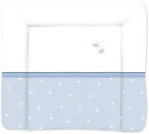 Träumeland Wickelauflage blau/weiß, Krone
