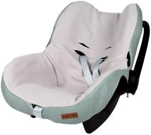 BO Baby's Only - Maxi-Cosi Bezug 0+ aus Baumwolle - 54x42x2 cm - für Jungen und Mädchen - Steingrün