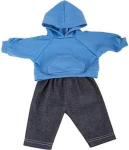 Small Foot puppenbekleidung Pullover und Hose 35-45 cm Baumwolle blau