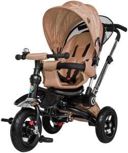 Kinderdreirad Kinderwagen Schieber Trike 7 in 1 Kinderbuggy Kinder Dreirad (Sand Beige)