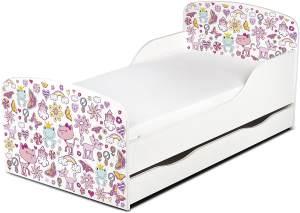 Leomark 'Prinzessin Träume' Kinderbett 140x70 mit Schublade und Matratze weiß