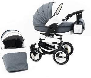 Tabbi ECO LN | 2 in 1 Kombi Kinderwagen | Luftreifen | Farbe: White