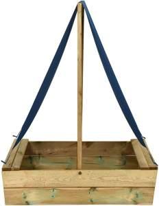 vidaXL Sandkasten mit Dach 80x60x97,5 cm Imprägniertes Kiefernholz