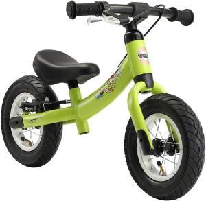 BIKESTAR Kinder Laufrad Lauflernrad Kinderrad für Jungen und Mädchen ab 2 - 3 Jahre ★ 10 Zoll Sport Kinderlaufrad ★ Grün