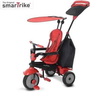 smarTrike 6951500 - Glow Touch Steering 4 in 1 Dreirad, rot