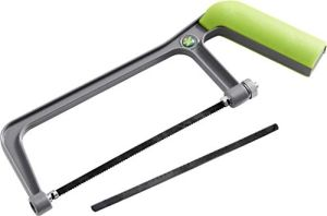 HABA 304482 - Terra Kids Bügelsäge, ergonomische Säge für Kinder, je ein Holz- und Metallsägeblatt, mit Spannschraube, passt perfekt in den Terra-Kids Werkzeugkasten-Bausatz